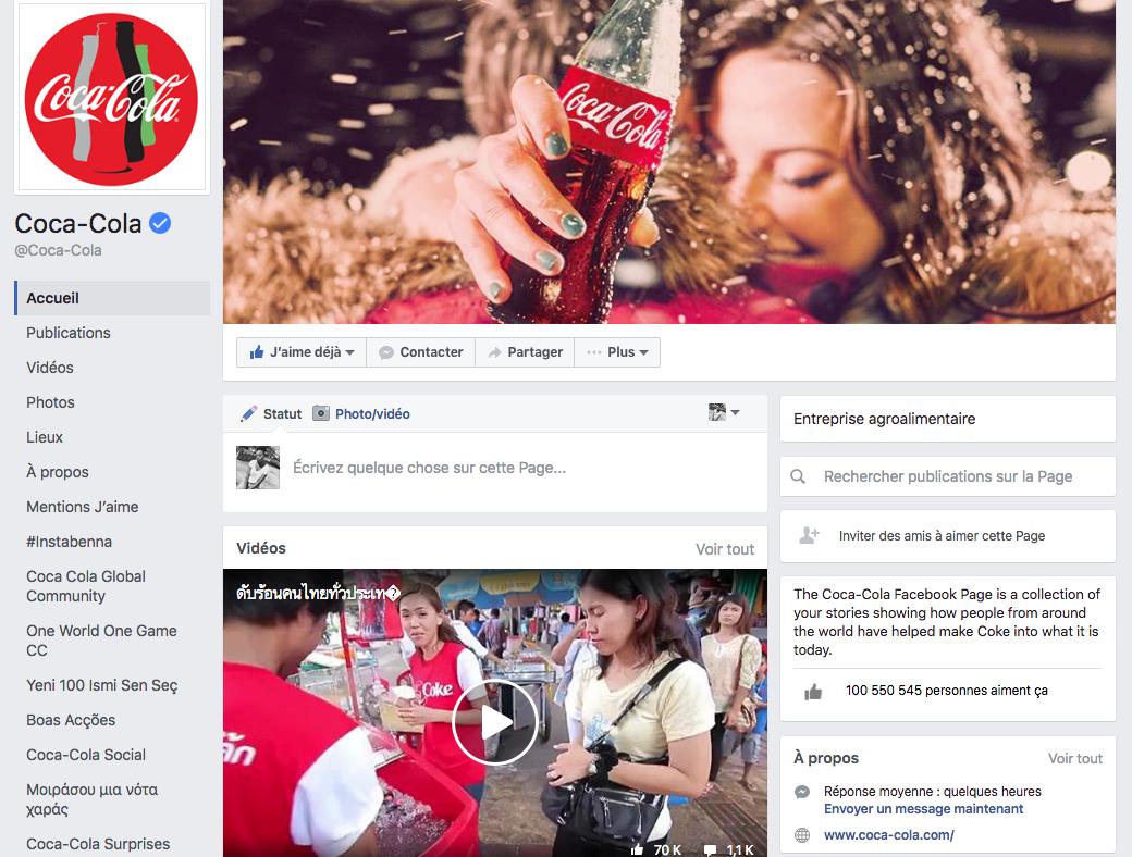 Coca Cola - Facebook Page