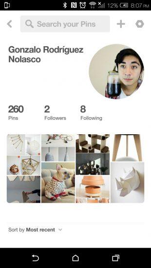 Hootsuite perfiles de Pinterest