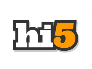 Hi 5 logo en la historia de las redes sociales