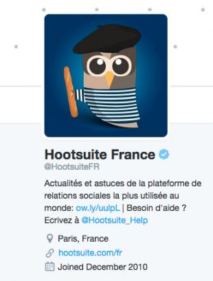 Biographie Twitter