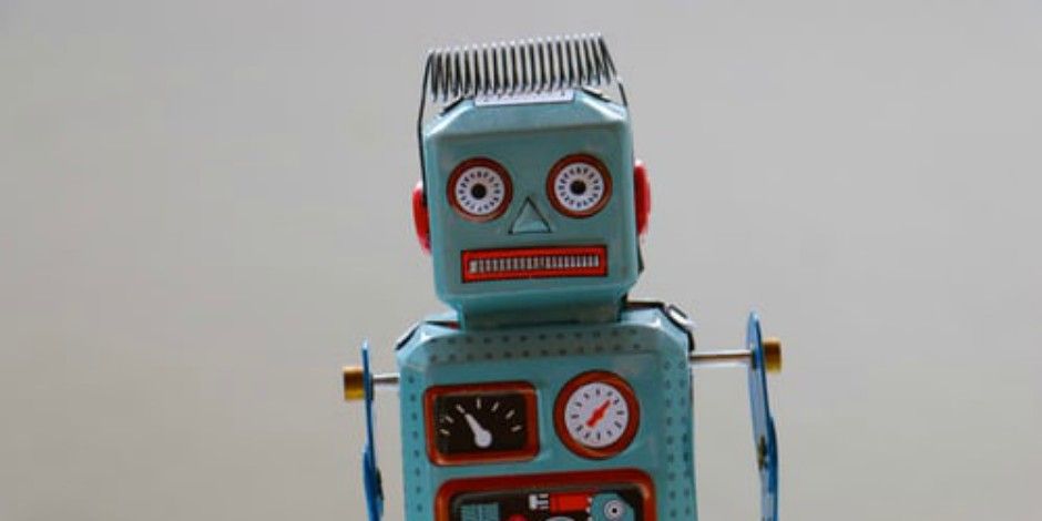 buy instagram followers: green old-fashioned robot