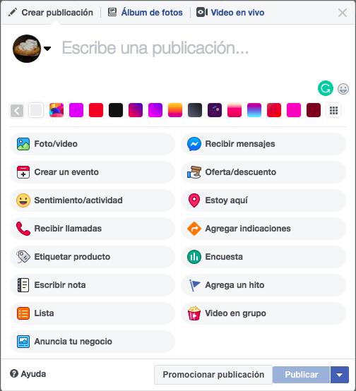 Página de facebook - Cómo escribir una publicación en tu página de Facebook