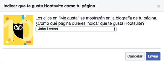 Página de facebook - Indica que te gusta en Facebook