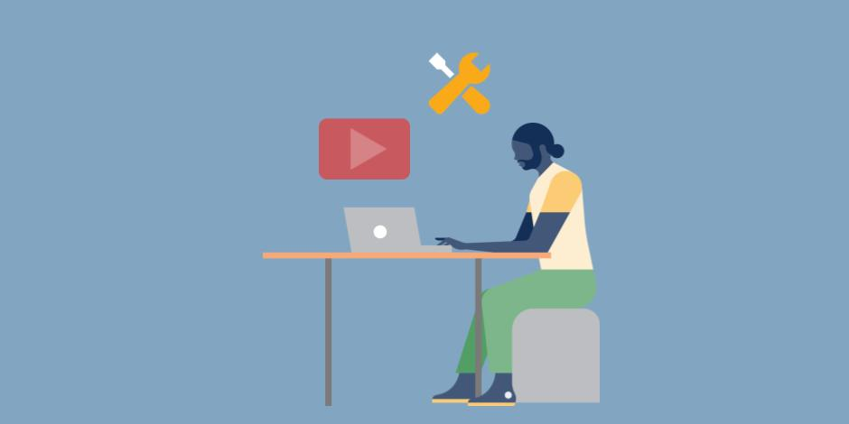 illustration of someone creating a YouTube video