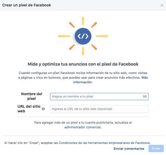 Facebook Pixel - Paso 3: Asigna un nombre a tu píxel