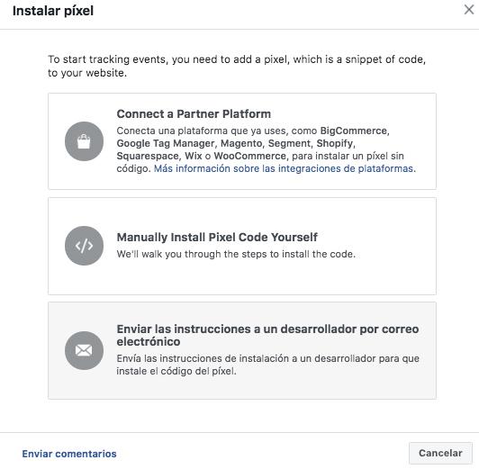 Facebook Pixel - Agrega el código del píxel a tu sitio web