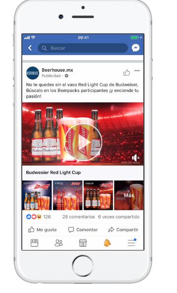 Ejemplos de Facebook Pixel Budweiser México