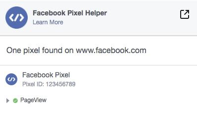 Facebook Pixel - Asistente para píxeles de Facebook find