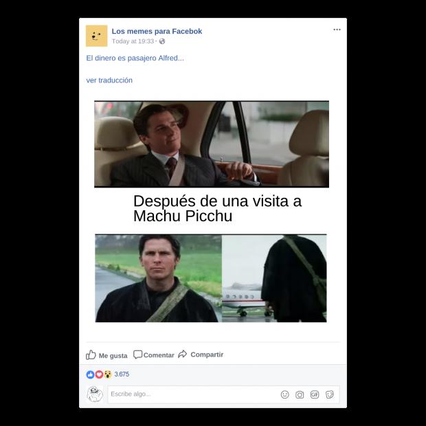 Memes para Facebook de Lugar
