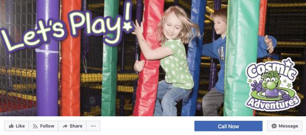 Cosmic adventures nos muestra como la creatividad impacta el diseño y conexión con clientes al crear fotos de portada para Facebook ingeniosas y humanas