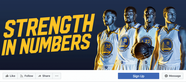 Crear fotos de portada para Facebook para equipos deportivos con contrastes