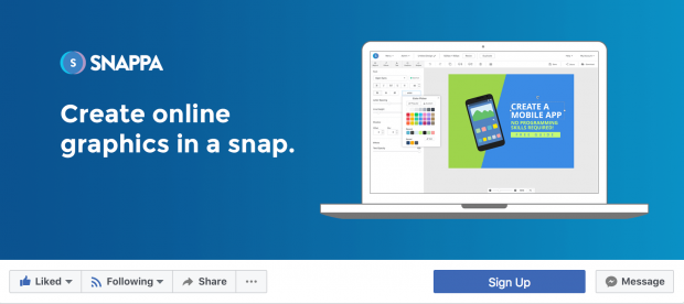 La fuente y le tamaño de tu letra impacta en el diseño al crear fotos de portada para Facebook