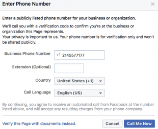 How to get a facebook account verified