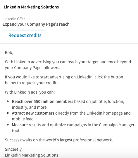 LinkedIn-Ads sponsored InMail