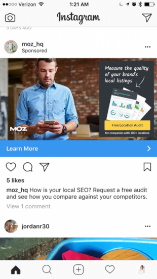 Publicités sur Instagram