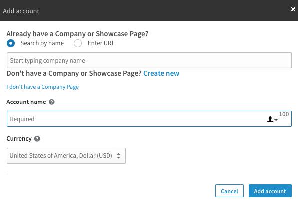 Publicités sur LinkedIn - Campaign Manager Account
