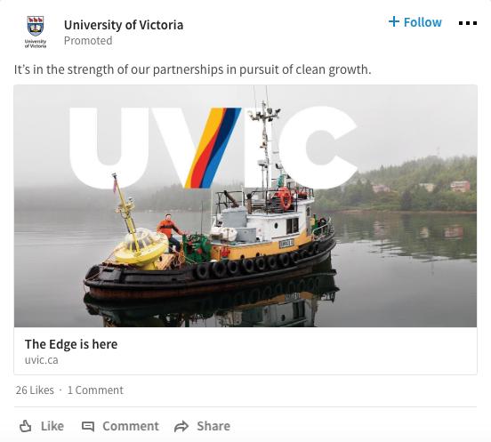 Publicités sur LinkedIn - Sponsored Content