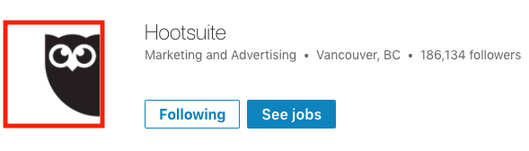 screenshot of Hootsuite LinkedIn company page