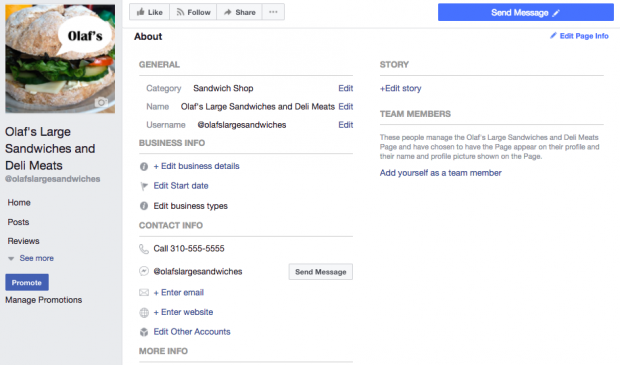 How to change the category on facebook business page