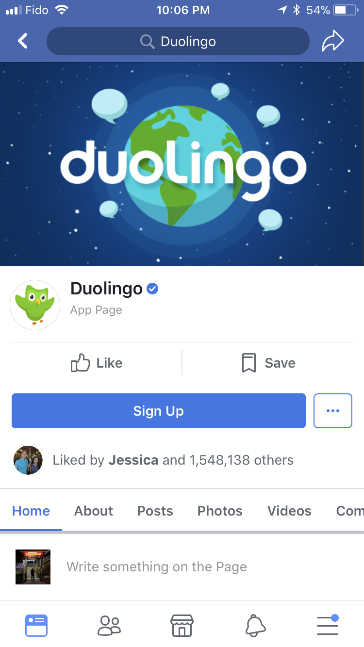 Duolingo Facebook Cover Photo mobile