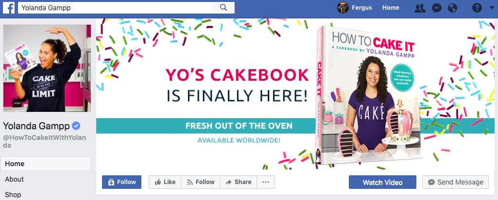 How to Cake it Facebook cover photo
