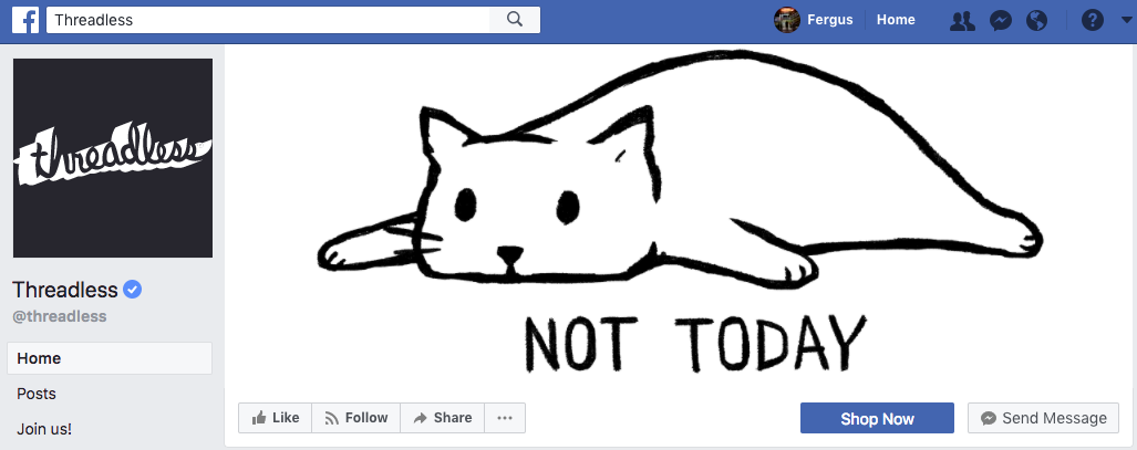 Threadless Facebook cover photo