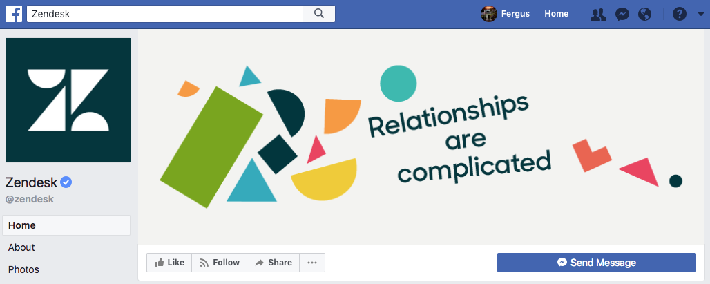 Zendesk Facebook cover photo