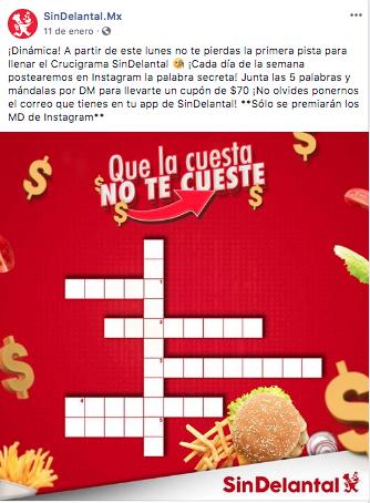 Sin Delantal - concursos en Facebook