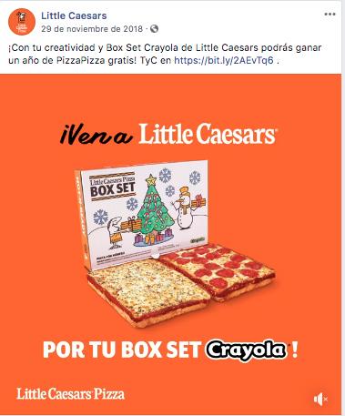 El concurso de Little Caesars en Facebook