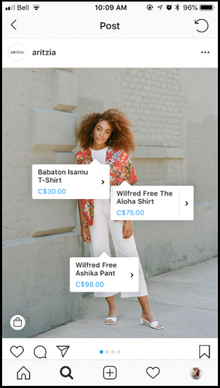 Instagram Shopping product tags