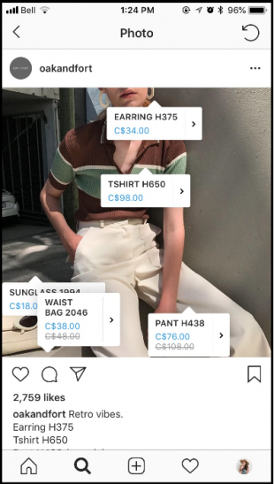 Oak + Fort on Instagram Shopping