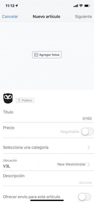 Cómo vender en Facebook con Marketplace - Crea un producto