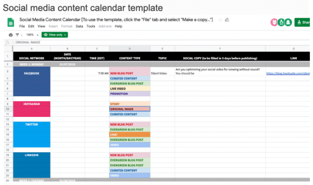 Social Media Scheduling Template from blog-assets.hootsuite.com