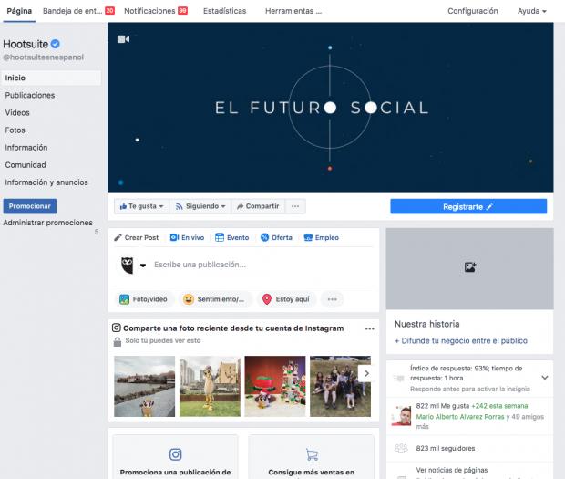 Paso 1 - fusionar paginas de Facebook