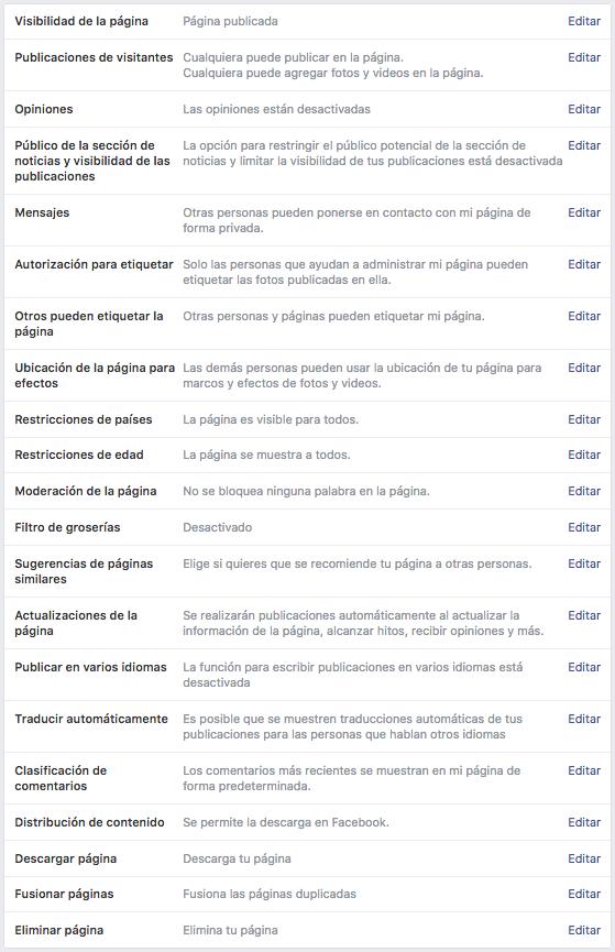 Paso 2 - fusionar paginas de Facebook