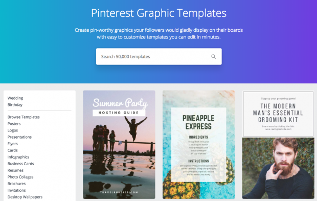 pinterest scheduler Canva