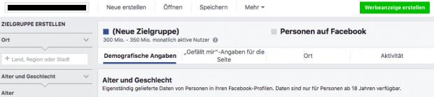Facebook Zielgruppen-Insights