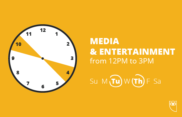best time to post on instagram for media and entertainment brands