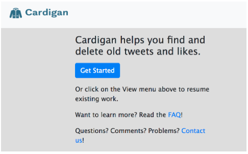 Cardigan home page