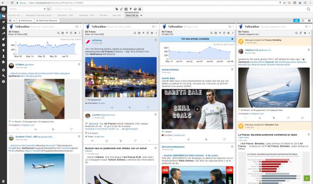 Talkwalker social media monitoring tool in Hootsuite