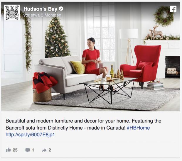 Facebook Anzeigenformate - Hudson's Bay