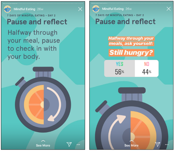 Headspace Instagram poll