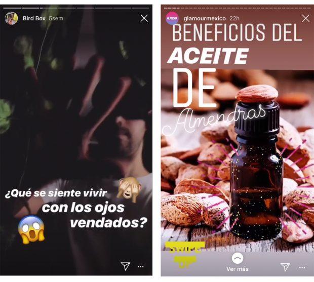 Instagram Stories - (Fuente: Instagram Netflix Latinoamérica y Glamour México)