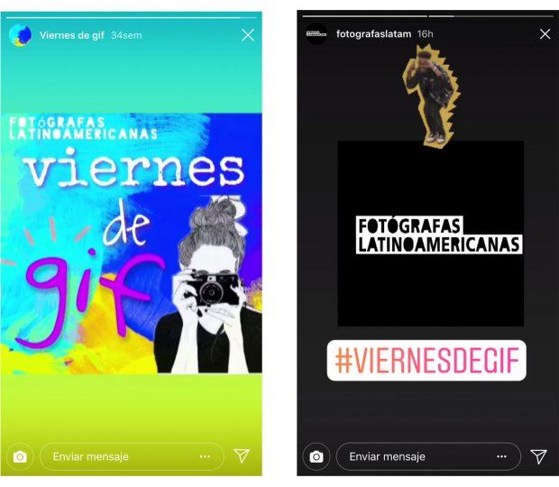 Instagram Stories - (Fuente: Instagram Fotógrafas Latinoamericanas)