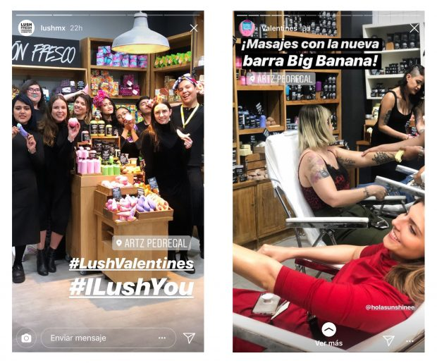 Instagram Stories - (Fuente: Instagram Lush) Dos