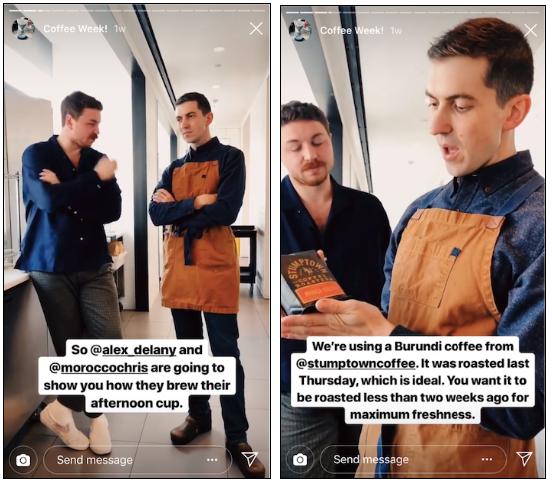 Bon Appetit Instagram Story