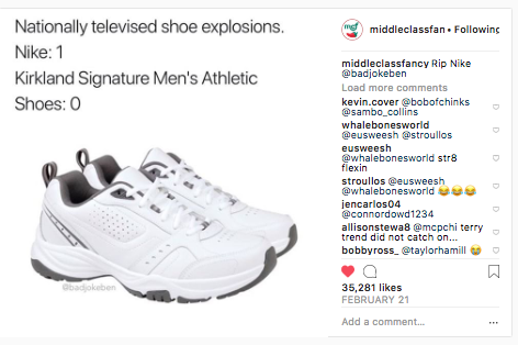 Middleclass Fancy meme about Nike sneakers