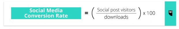 social media conversion rate formula