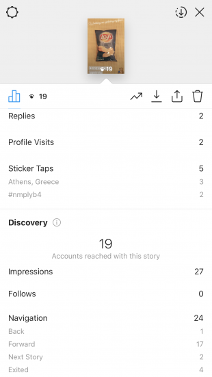 Instagram Stories analytics stickers
