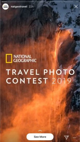 National Geographic Instagram Stories contest